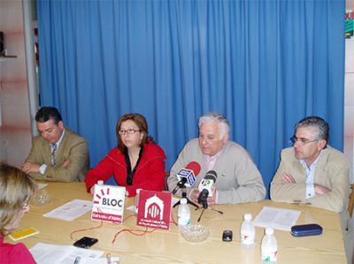 FOTO DE LA RODA DE PREMSA AMB MOTIU DE LA PRESENTACIÓ DEL IV GUARDÓ MURTA 2008 D' ALZIRA