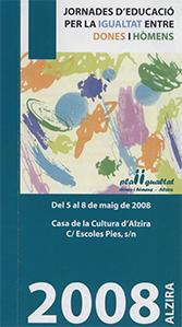 LAS JORNADAS DE EDUCACIÓN POR LA IGUALDAD DE MUJERES Y HOMBRES SE INICIAN EL LUNES EN ALZIRA