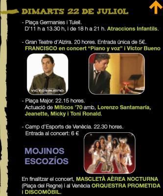PROGRAMACIÓ FESTES SANT BERNAT DIMARTS 22 DE JULIOL