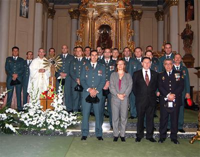 LA GUARDIA CIVIL DE ALZIRA CELEBRÓ EL 12 DE OCTUBRE CON UNA MISA EN LA PARROQUIA DE SANTA CATALINA
