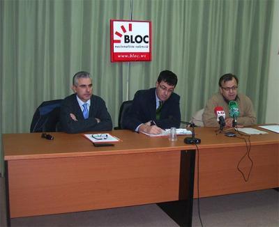 RODA DE PREMSA DEL BLOC D'ALZIRA SOBRE LES ESMENES ALS PRESSUPOSOTS DE LA GENERALITAT PER AL 2009