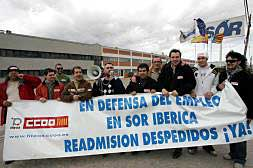 LOS TRABAJADORES DE SOR DE ALZIRA SE MANIFESTARÁN POR 12 DESPIDOS