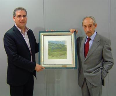 FERNANDO LÓPEZ AMADOR DONA UN CUADRO AL MUSEO MUNICIPAL DE ALZIRA